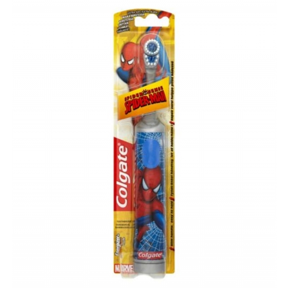 Colgate Kids Spiderman Battery Powered (Multicolor) Extra Soft Toothbrush