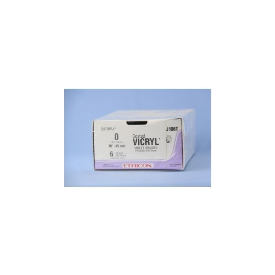 Ethicon Vicryl #0 Absorbable Violet Braided Suture