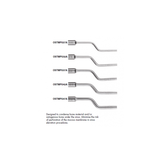 Gdc Osteotomes Flat End Angulated Set Of 6 In Pouch (Ostmpusp6a)