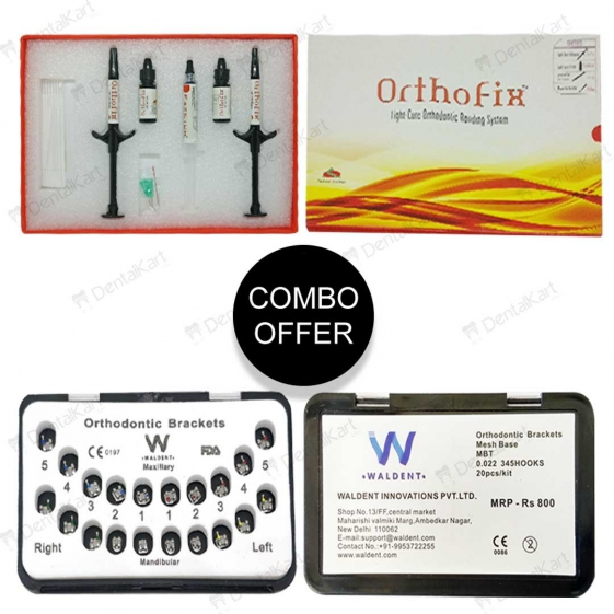 (Buy 50) Waldent Metal Bracket Kit + (Get 1 Free) Anabond Orthofix Kit